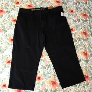 NWT, Coldwater Creek size 12P, cropped leg black